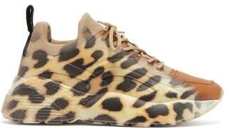 Stella McCartney Eclypse Leopard Print Low Top Trainers - Womens - Leopard