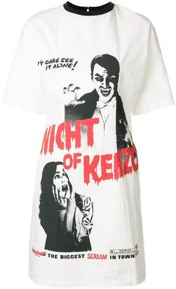 Kenzo Night of print dress