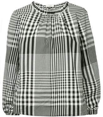 Tibi gingham plaid blouse