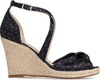 LK Bennett Angeline polka dot leather espadrille sandals