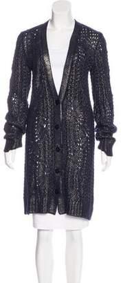 Oscar de la Renta Silk Knit Cardigan