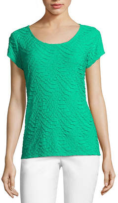 Liz Claiborne Short-Sleeve Textured Knit T-Shirt