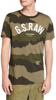 G Star G-Star Men's Camo-Print Typographic T-Shirt