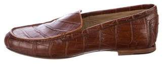 Ralph Lauren Crocodile Round-Toe Loafer