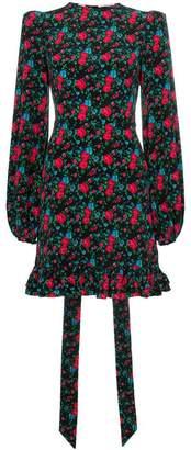 The Vampire's Wife Belle floral print ruffle hem dress