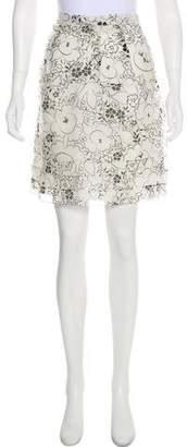 Christian Dior Silk Floral Skirt