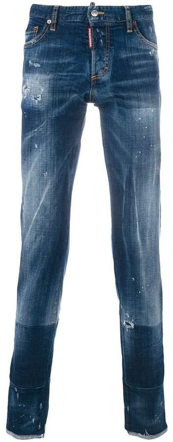 DSQUARED2 distressed regular jeans