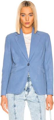 Acne Studios Janice Suit Jacket in Mineral Blue   FWRD