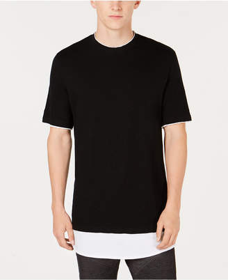INC International Concepts I.n.c. Men's Textured Colorblocked Layered-Look T-Shirt, Created for Macy's