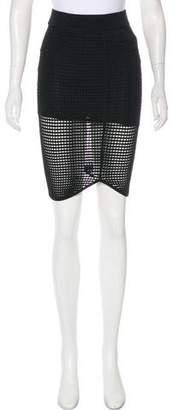 Torn By Ronny Kobo Mesh Knit Knee-Length Skirt