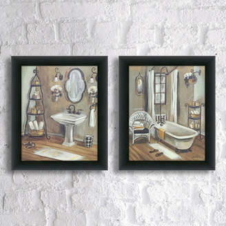 Andover Mills 'Bathroom' 2 Piece Framed Painting Print Set on Canvas