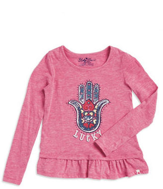 Lucky Brand Girls 7-16 Girl's Embroidered Peplum Top $24 thestylecure.com