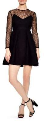 Sandro Jeanette Short Lace Dress