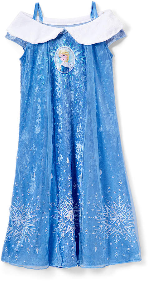 Frozen Blue Elsa & Snowflake Nightgown - Girls