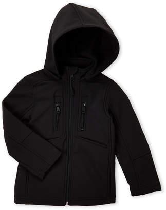 Urban Republic Boys 4-7) Black Softshell Hooded Jacket