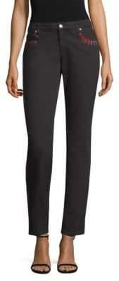 Versace Embellished Straight-Leg Jeans