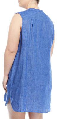 Nic+Zoe Plus Drifty Linen Tunic Dress, Plus Size
