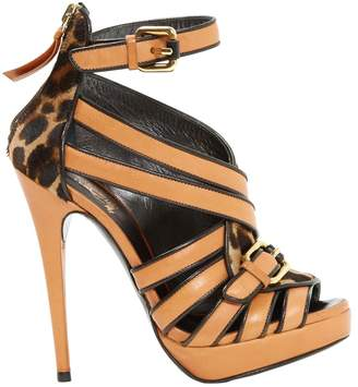 Trussardi Camel Leather Sandals