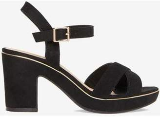 Dorothy Perkins Womens Black 'Romy' Platform Sandals
