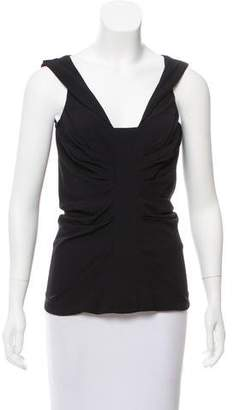 Christian Dior Sleeveless Gathered Top