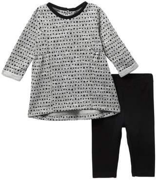 Petit Lem Knit Dress & Leggings Set (Baby Girls)