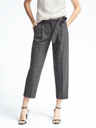 Lightweight Wool Tie Waist Pant $110 thestylecure.com