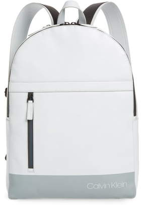 Calvin Klein Screen Print Faux Leather Backpack