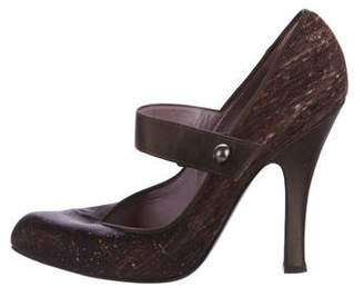 Alberta Ferretti Satin Mary Jane Pumps
