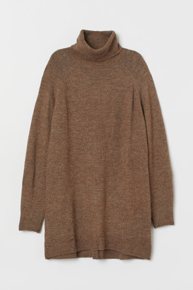 H&M Long Turtleneck Sweater - Beige