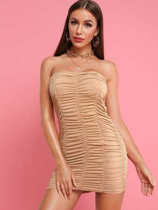 Shein Ruched Detail Tube Bodycon Dress