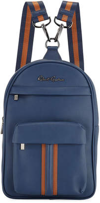 Robert Graham Perforated Faux-Leather Mini Backpack, Navy