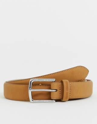 Ben Sherman Original Penguin Skinny Leather Belt Tan