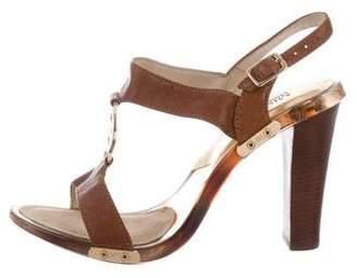 MICHAEL Michael Kors Leather Ankle Strap Sandals