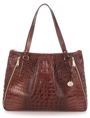 Brahmin Melbourne - Adina Croc Embossed Leather Satchel