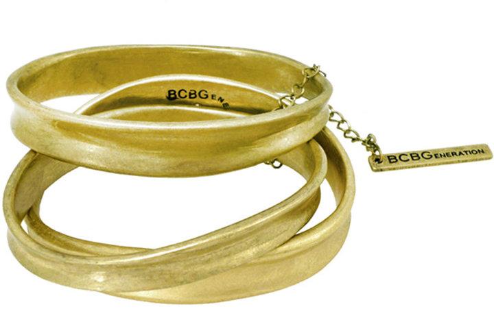 BCBGeneration Bracelet Set, Gold-Tone Three Piece Bangle Set Web ID: 591235