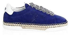 Tod's Women's Lace-Up Blue Espadrilles