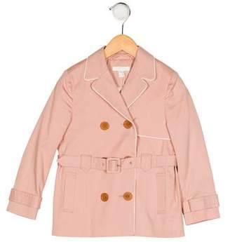 Marie Chantal Girls' Double-Breasted Trench Coat w/ Tags
