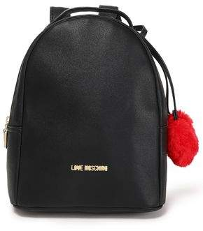 Love Moschino Pompom-embellished Faux Leather Backpack