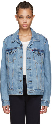 Levi's Blue Denim Trucker Jacket $85 thestylecure.com