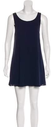Alice + Olivia Silk Sleeveless Mini Dress