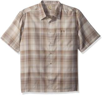 Haggar Men's Big and Tall Short Sleeve Microfiber Woven Shirt