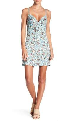 Love, Fire Floral Knotted Front Dress