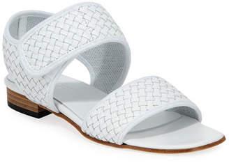 Sesto Meucci Gryta Woven Calf Leather Flat Sandal