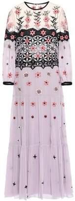 Temperley London Finale Bowtie Embroidered Georgette Midi Dress