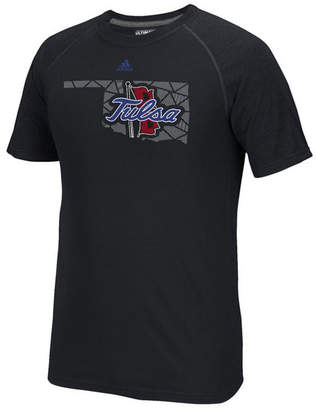 adidas Men's Tulsa Golden Hurricane Geometric Flow T-Shirt