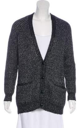 Barneys New York Barney's New York Metallic Knit Cardigan