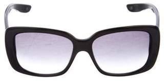 Bottega Veneta Intrecciato-Trimmed Square Sunglasses