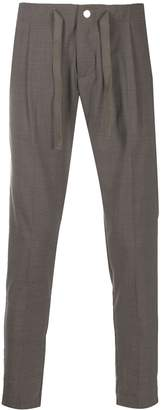 Entre Amis micro pleated tailored trousers