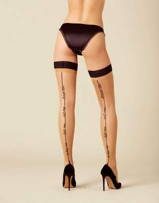 Agent Provocateur Tease Me Hold Up Champagne And Black
