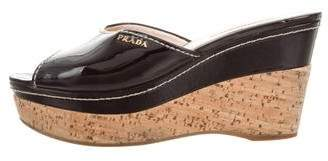 Prada Sport Platform Wedge Sandals